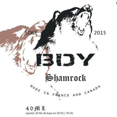 Etiquette e-liquide shamrock par bdy