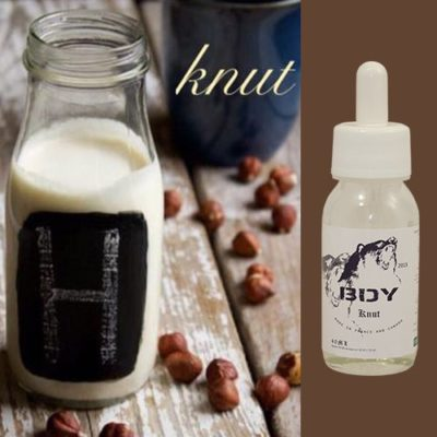 E-liquide premium Knut au café, noisettes et crème sucrée par BDY