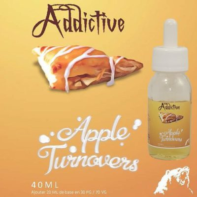 Eliquide Apple turnovers au chausson aux pommes : pâte feuilletée et compote finement sucrée.