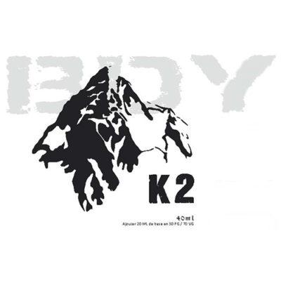 Eliquide K2, tabac blond gourmand avec une touche légère de fraîcheur à l'exhalation
