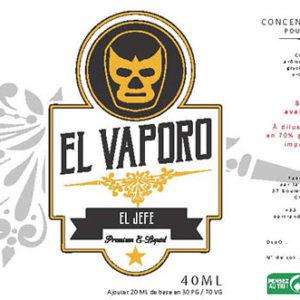Eliquide premium El Jeffe : un mélange riche de bourbon éclaboussé par une noix de coco.