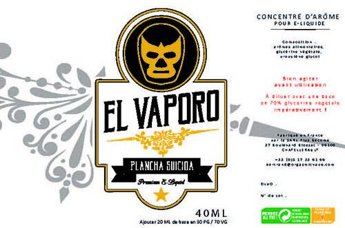 Eliquide premium Plancha suicida au tabac doux, nouveau, raffiné avec des notes de crackers.