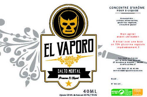 Eliquide premium Salto mortal à la poire légère, aérienne avec une pointe de caramel.