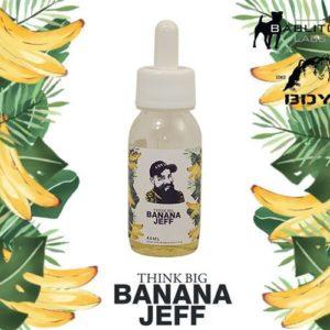 Eliquide premium Banana Jeff à la banane flambée et caramélisé. Douceur et réalisme pour ce eliquide conçu par BDY.