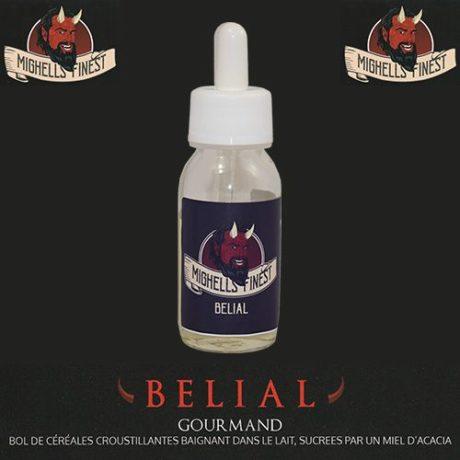 E-liquide Belial par Mighell's Finest aux céréales, lait et miel.