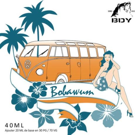 Etiquette arôme Bobawum