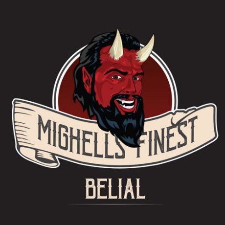 Etiquette Belial par Mighell's Finest