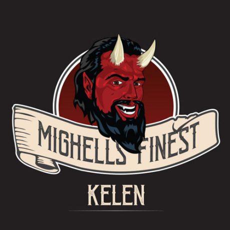 Etiquette arôme kelen par Mighell's Finest