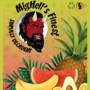 E-liquide premium Sinfully Decadent aux fruits tropicaux par Mighell's Finest
