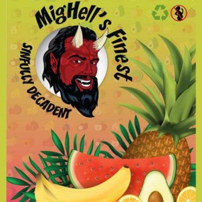 E-liquide premium Sinfully Decadent aux fruits tropicaux par Mighell's Finest